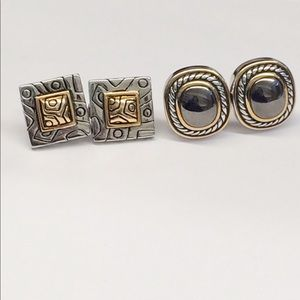 VINTAGE CLASSIC FRENCH BACK EARRINGS